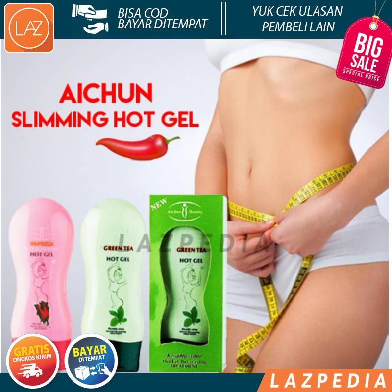 Aichun Hot Gel / Aichun Slimming Hot Gel Pengecil Perut Aichun Green Tea Aichun Paprika BSY_Shop
