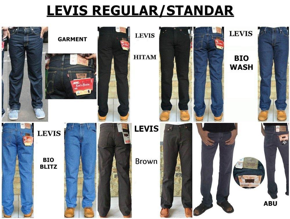 Celana Levis Celana Jeans Wrangler Regular Standar Size 33-38 di lapak JAKET PARASUT MURAH rafihirata