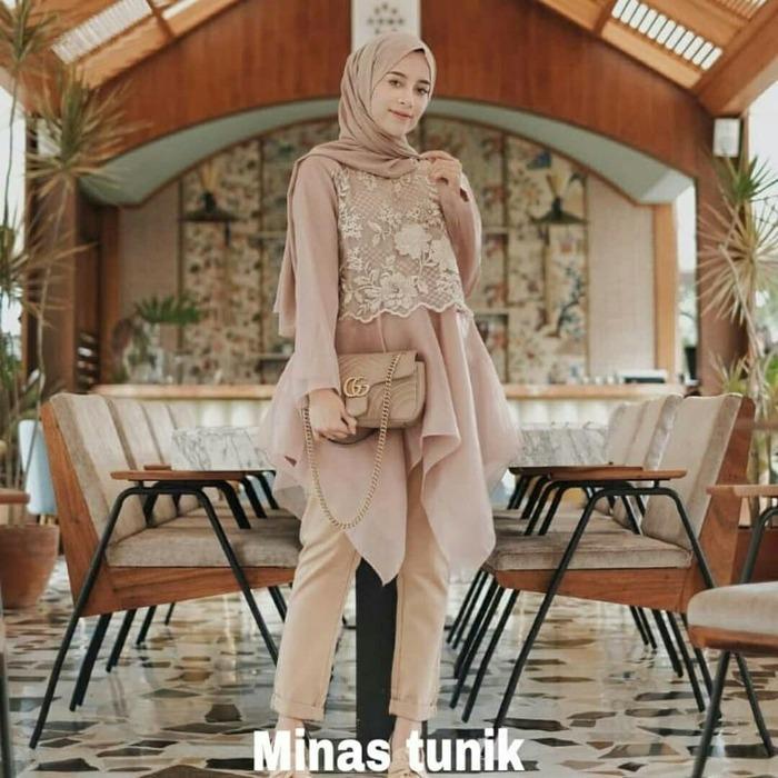Atasan muslim wanita / jual Baju murah / Baju pesta : Minas Tunik