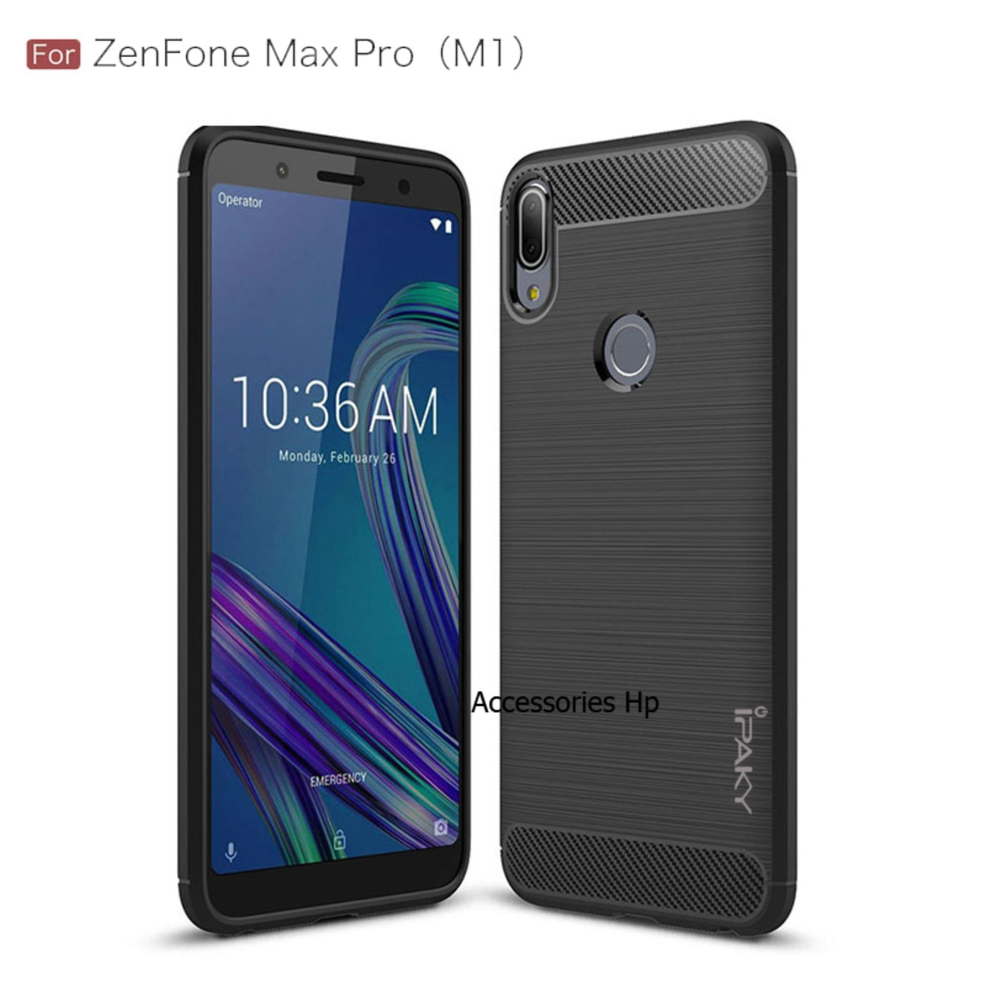 Accessories Hp Premium Quality Carbon Shockproof Hybrid Case For Asus Zenfone Max Pro M1 ZB602KL - Black