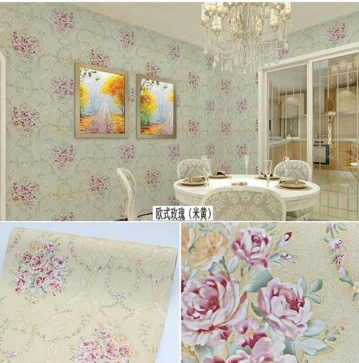 Sticker Wallpaper - Walpaper Sticker Dinding Motif Nature DLL (Size 45cm X 10M) -