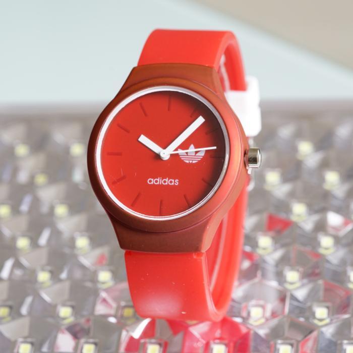 Jam Tangan Pria / Wanita Murah Adidas SK2845 Rubber Red