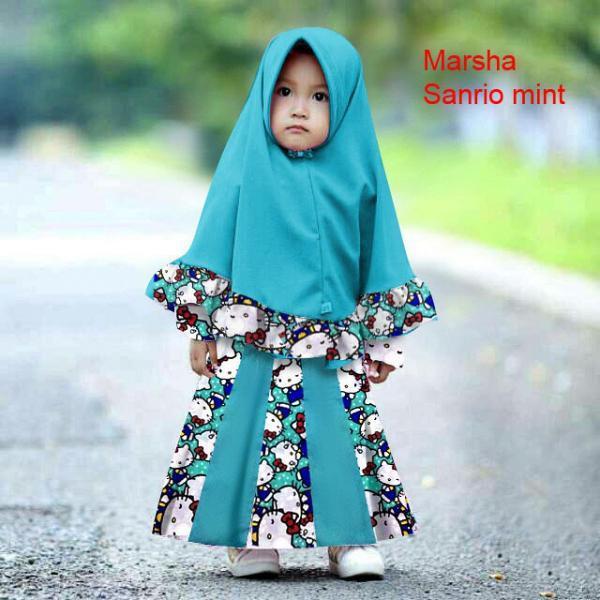 Vshop91jkt - Syari Anak Marsha Kids Baju Syari Bergo Anak Dress Anak Gamis Kids Syari Kids Baju muslim Pakaian Muslim Anak Dress Muslim Anak Pakaian Anak Bergo Maxi Dress  Baju Anak 3in1