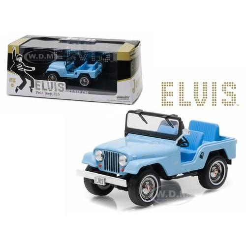 Greenlight 1:43 1963 Jeep Cj5 Elvis Presley Blue - 1Kxpfm