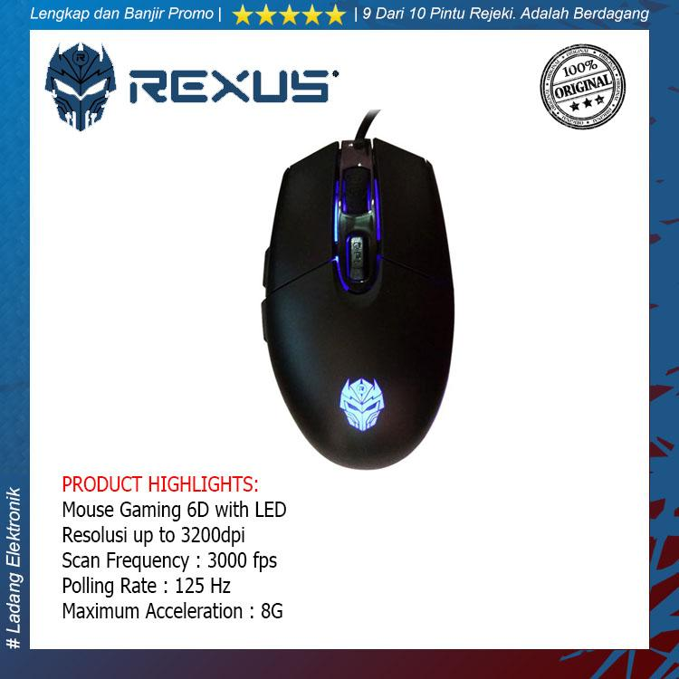 Rexus Xierra G9 RXM-G9 USB Gaming Mouse 6D with LED