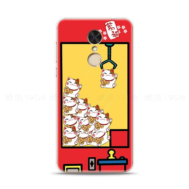 Mendatangkan Keberuntungan Jumlah Selubung Ponsel 5 Plus/5A Xiaomi Redmi Mesin Boneka Karakter Asli