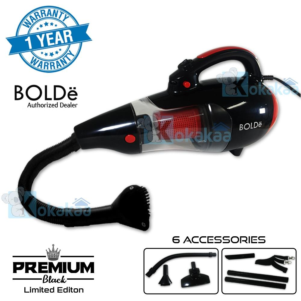 Bolde Super Hoover Turbo Cyclone Premium BLACK Limited Edition Vacuum Cleaner with Elastic Hose & Blower