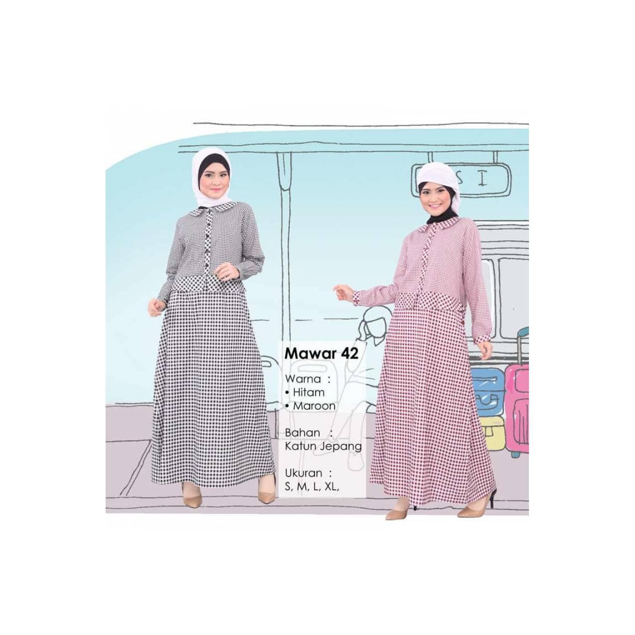 Gamis Qirani Fresh QDF Mawar 42 / Dress Muslim