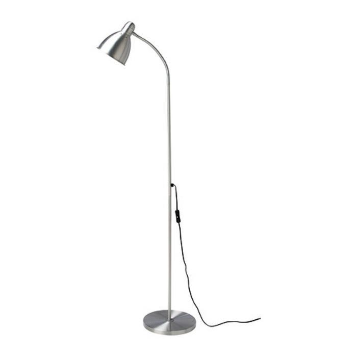 IKEA LERSTA Lampu lantai baca, aluminium