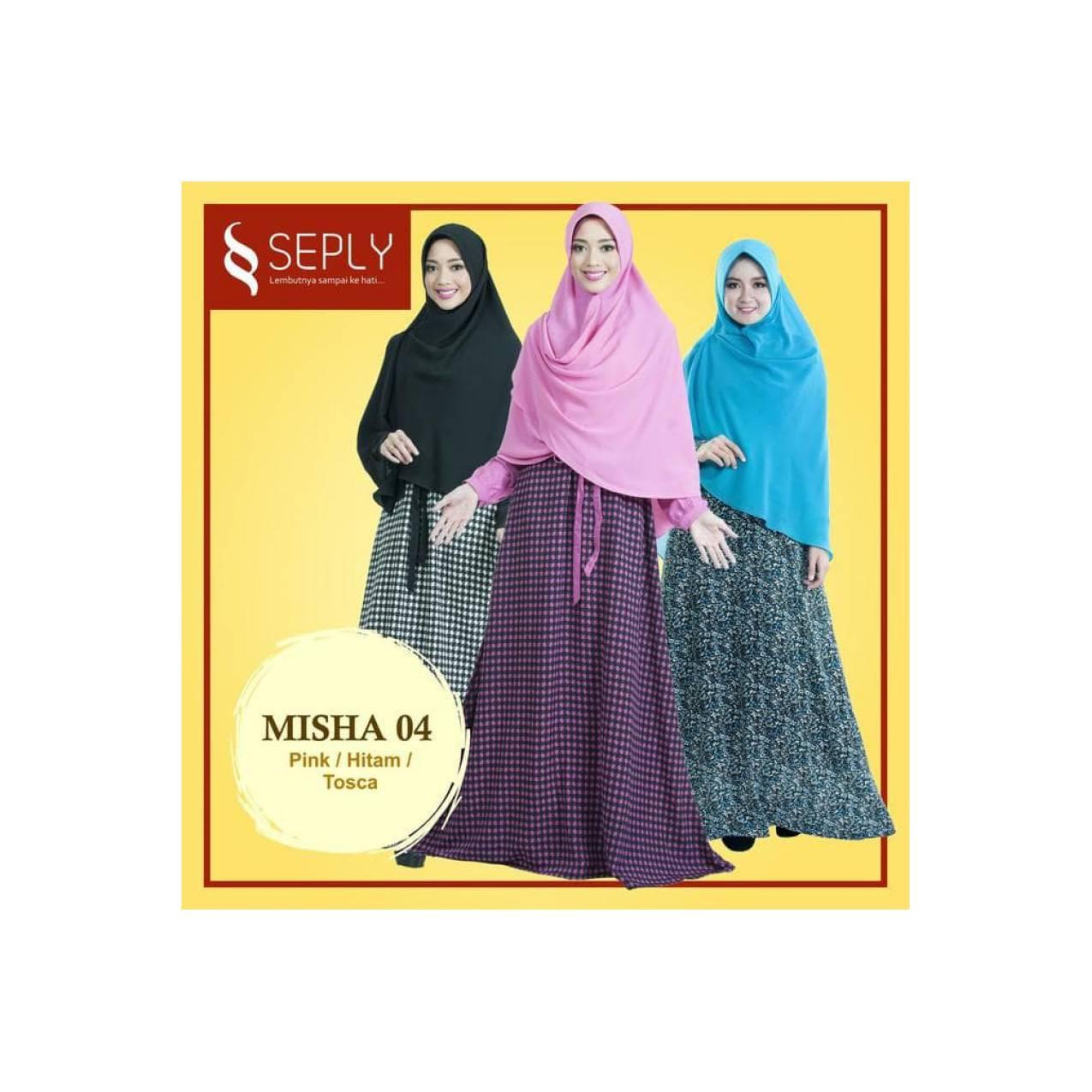 Gamis Plus Jilbab Satu Set Ukuran XL SEPLY Misha-04