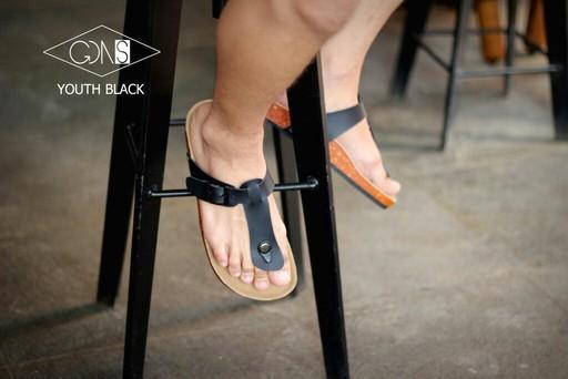 Goodness YOUTH Black - Sandal Birkenstock Sandal Kasual Pria Santai Kulit Asli Murah Original Gaya Maskulin Pantai Sandal Rumah Sandal Jenpit Formal Casual