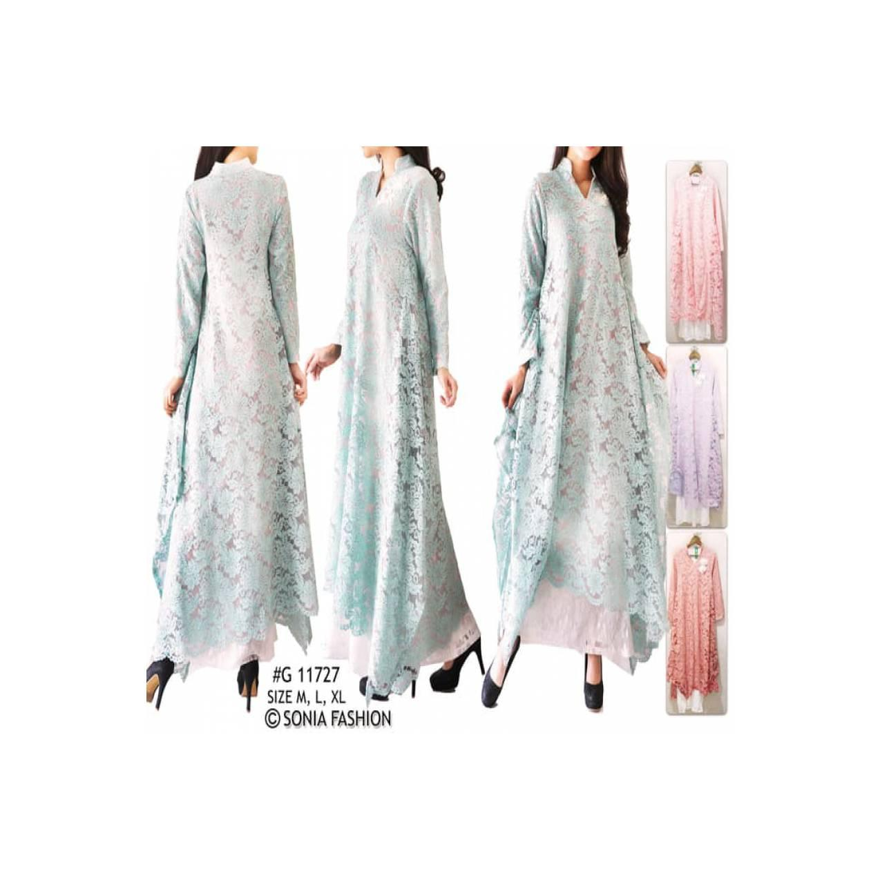 Gamis Maxi Full Brukat Zaskia Maxi Dress Lace Dresses 11727