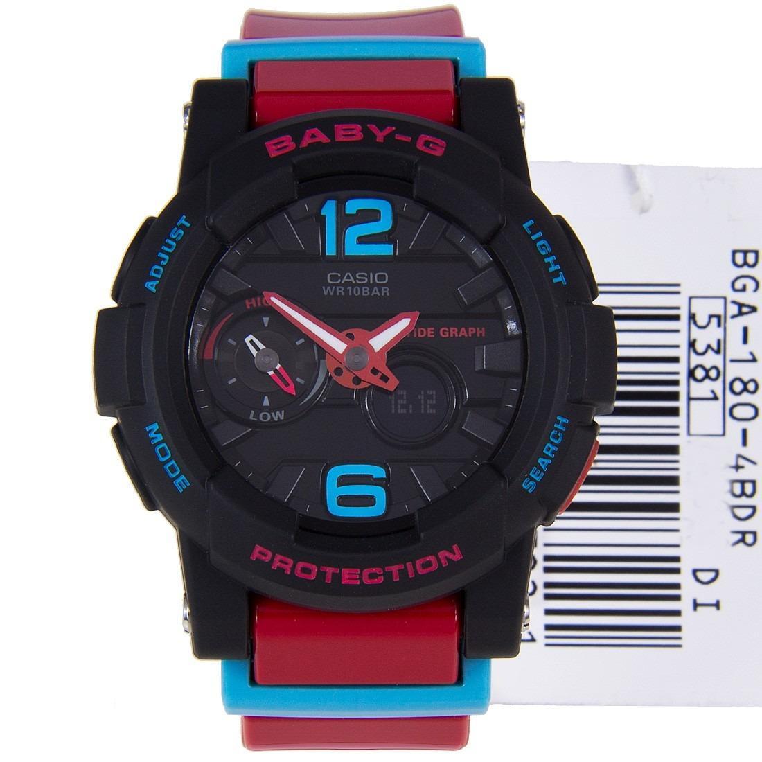 JAM TANGAN FASHION WANITA - CASIO BABY G - BGA 180-4B (RED)