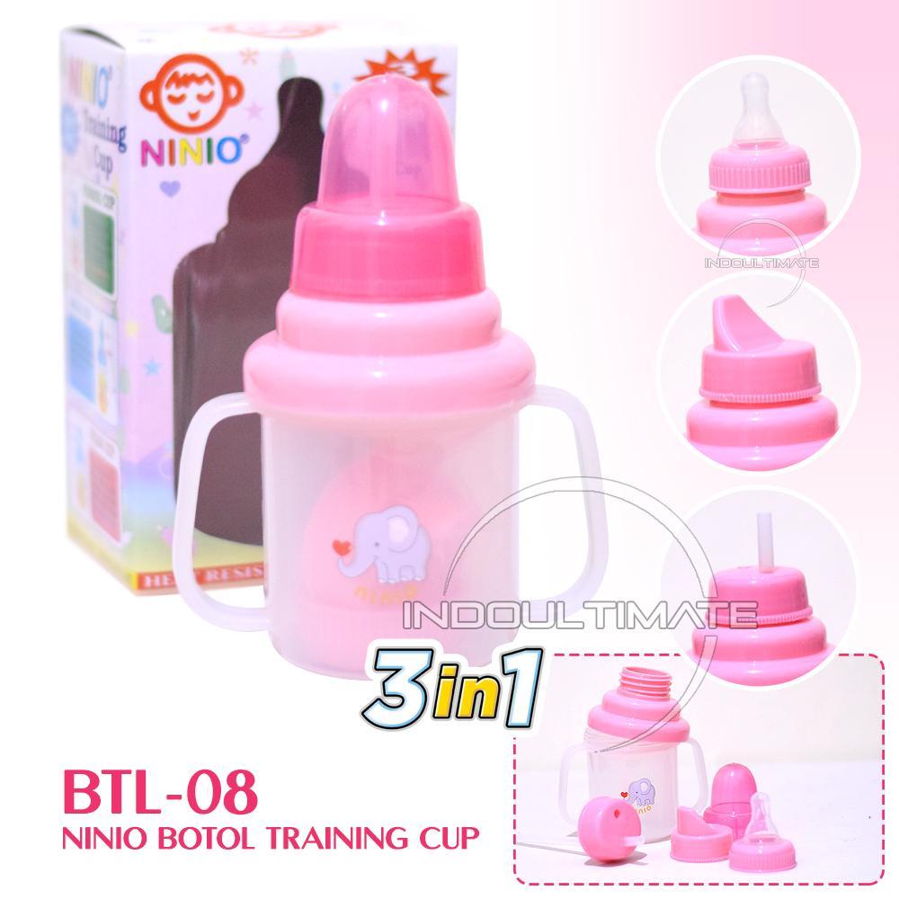 Ninio Training Cup 3in1 / BY BTL-08 / Botol Minum Bayi / Dot Bayi / Botol Bayi / Tempat Minum Bayi