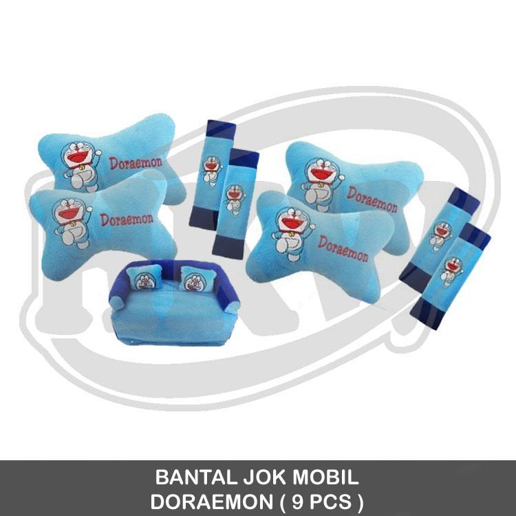BANTAL JOK MOBIL / Isi 9 PCS / Model Doraemon