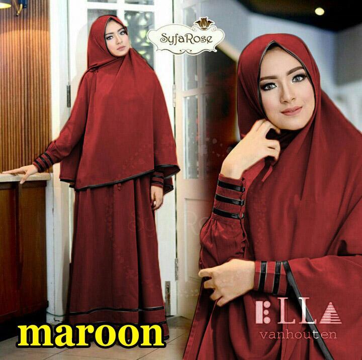 Snowshop Gamis Syari SyfaRose New ( Dapat Jilbab ) - 20 warna Maxi   Dress   30fca44e74