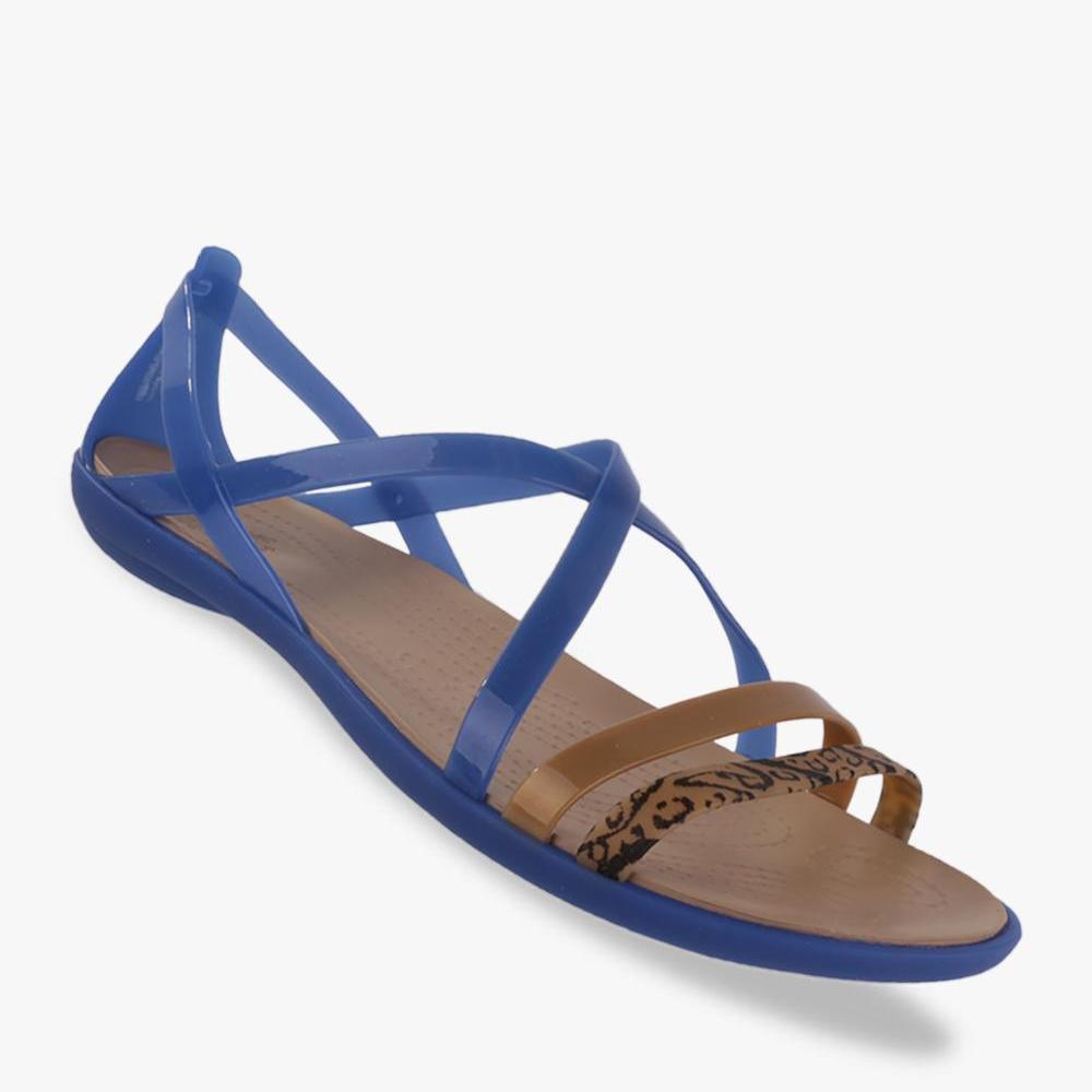 Crocs Isabella Graphic Strappy Sandal Wanitas - Blue