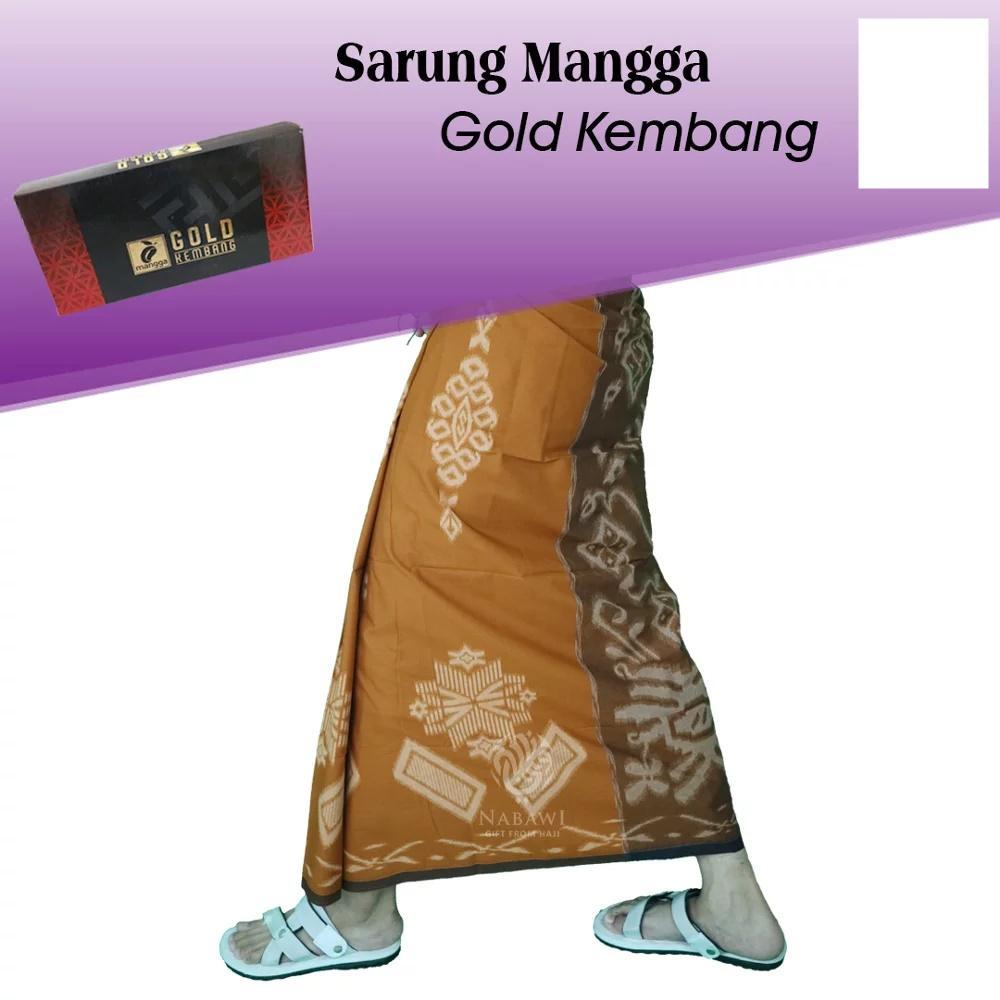 Sarung Mangga Gold Kembang Sarung Tenun