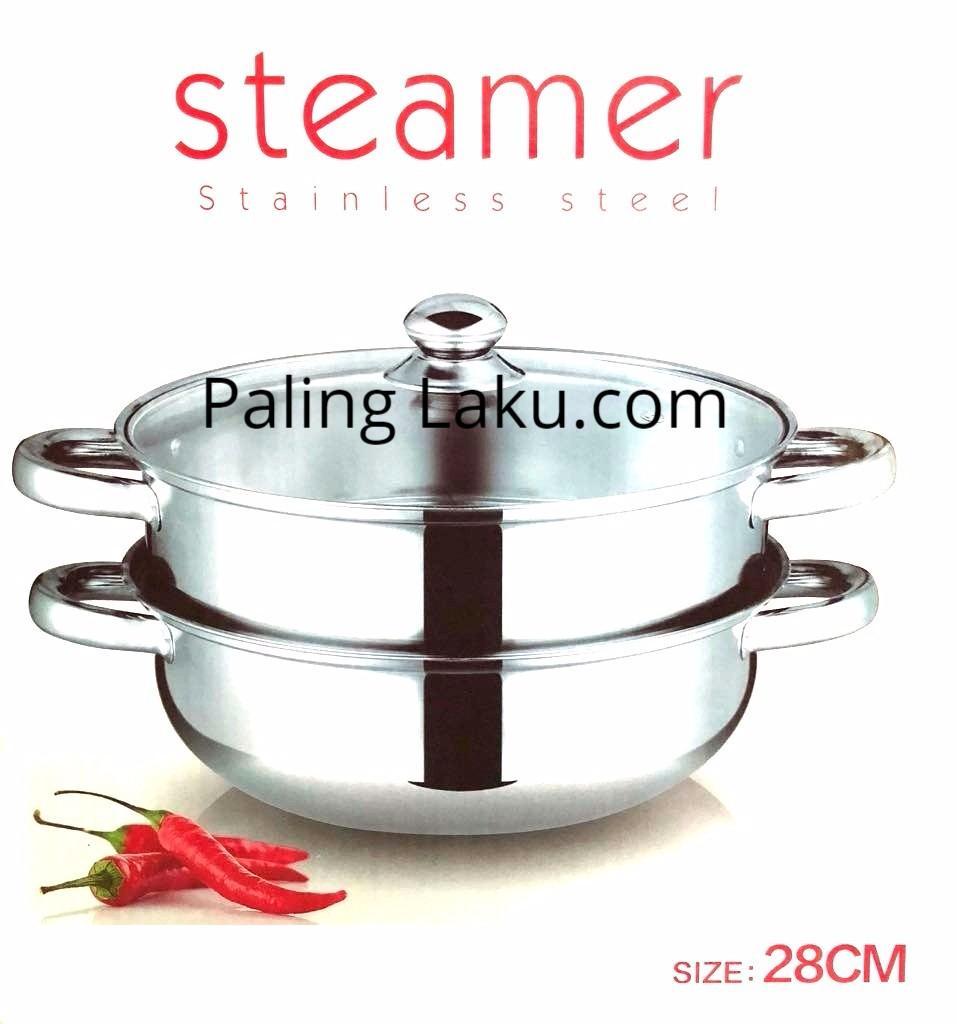 Dandang Steamer Panci Kukus Stainless 28-Steamer Pan By Paling Laku.