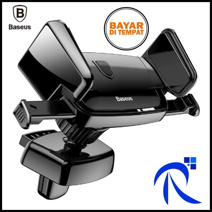 Baseus Air Vent Smartphone Car Holder Mobil - SUJXS-01 - Black / Hitam -