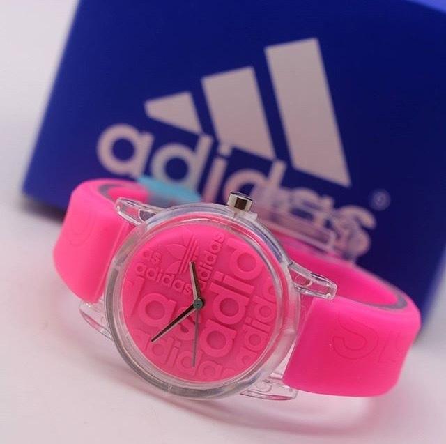 Jam Tangan Pria / Wanita Murah Adidas Sky Rubber Pink| AMO Store