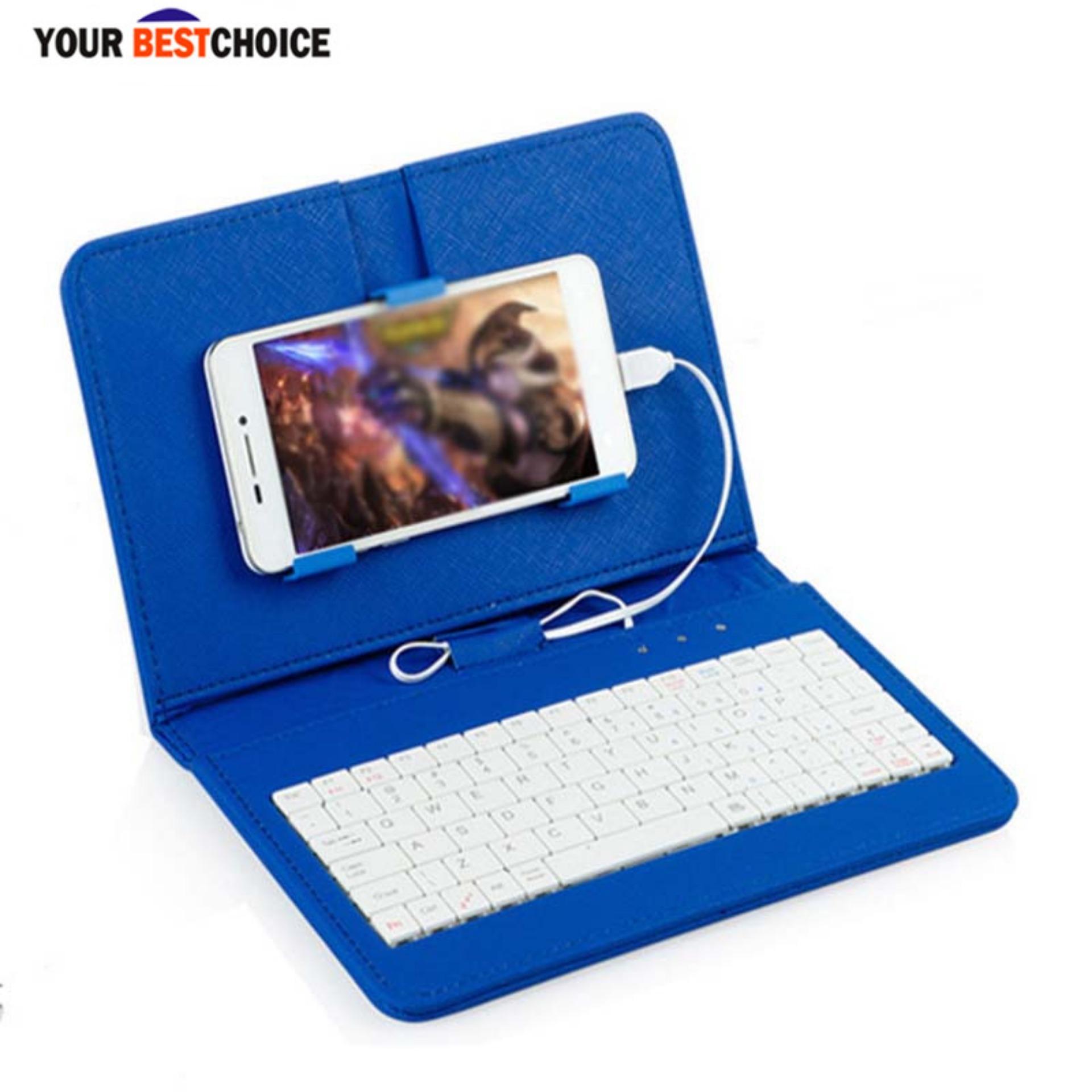 YBC Indah Kabel Keyboard dengan Sarung Pistol Case untuk Ponsel Android 4.2-6.8 Inch-Intl