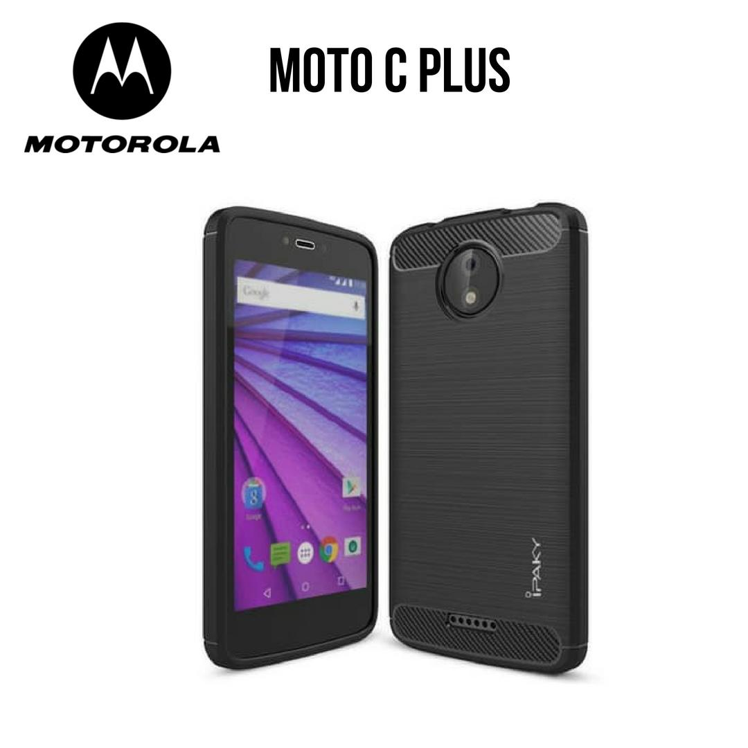 Case Motorola Moto C Plus Ipaky Carbon Soft Series - Hitam