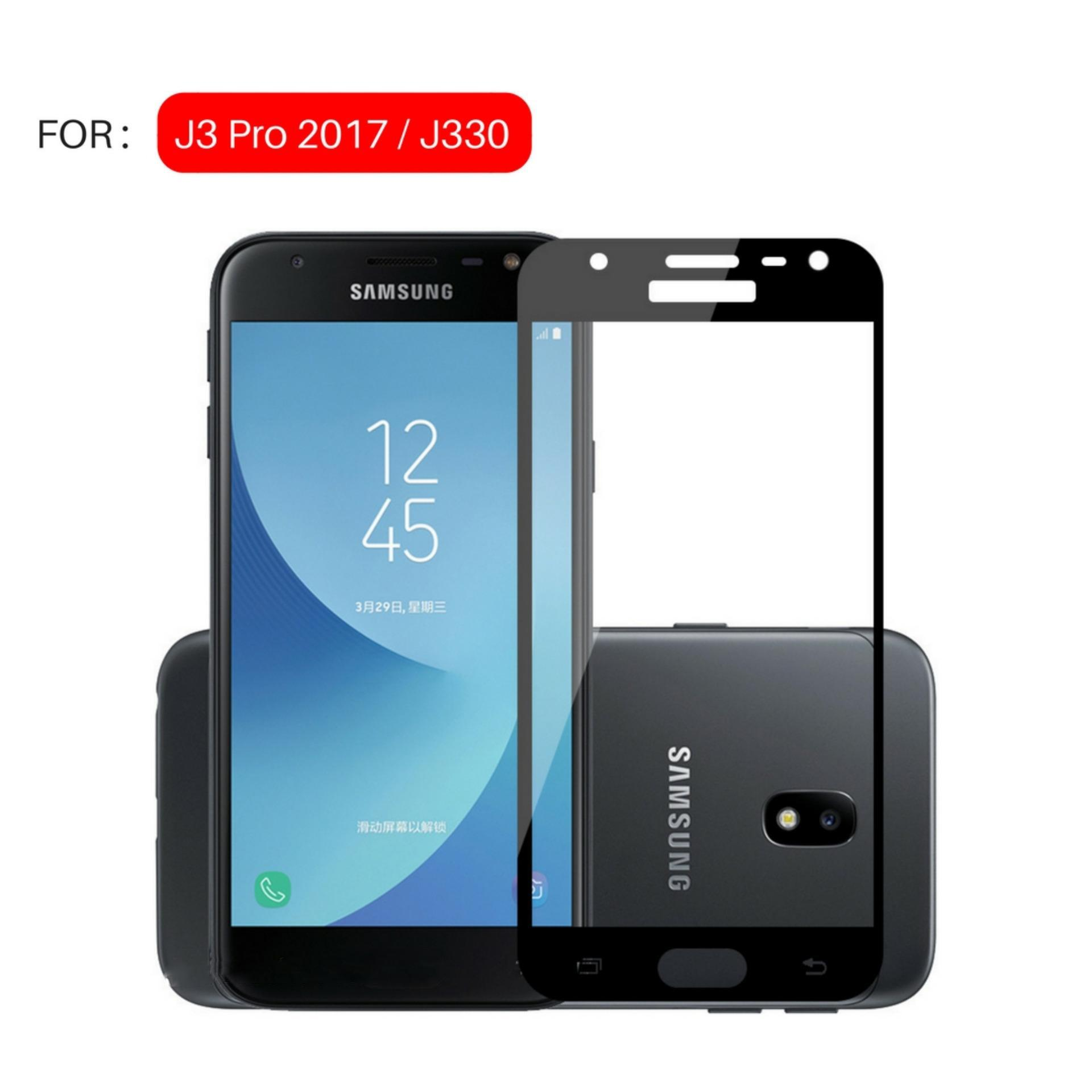 Jak Shop Tempered Glass Warna Full Corning Screen Protector For Samsung Galaxy J3 Pro 2017 J330