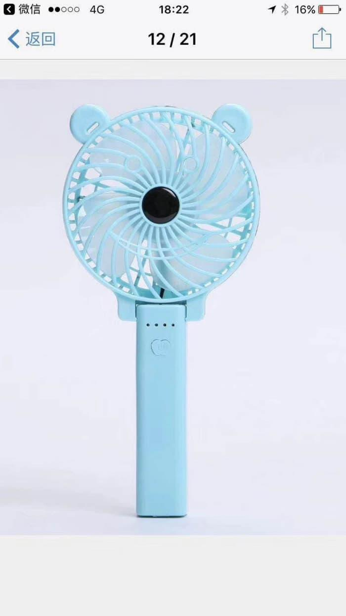 Mini Fan Portable Kipas Angin Usb Handy Paling Unik Tangan Hand Colorful Wind Leaves