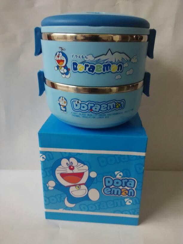 Rantang Susun Doraemon 2 Susun / Rantang Karakter Mini Stainless Steel / Rantang Doraemon Mini -