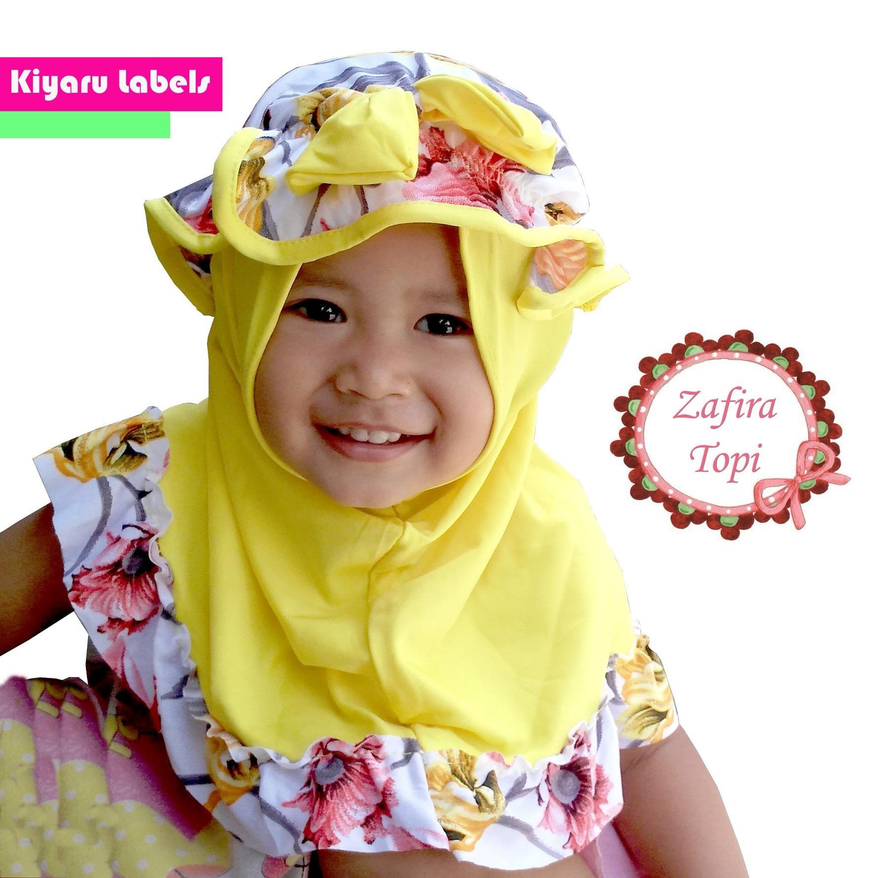 HQo Kerudung Anak Bayi Topi / Jilbab Anak Bayi / Hijab anak Bayi / Hijab Pashmina Instan / Kerudung Anak Zahra Topi (PROMO)
