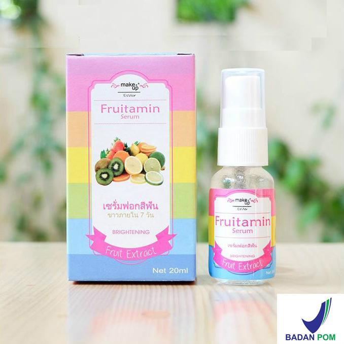 Fruitamin Serum Brightening & Whitening Fruit Extract Serum Buah BPOM - 20 ml