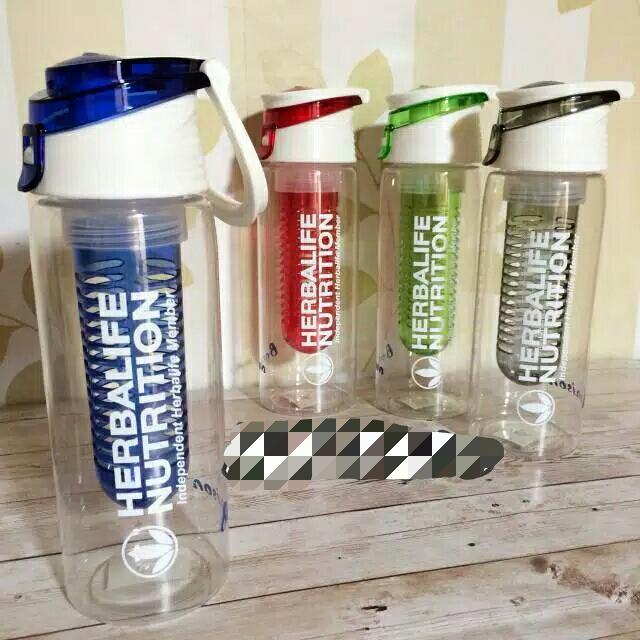 Herbalife_#botol infuse water 750ml (biru, merah, hijau, hitam)