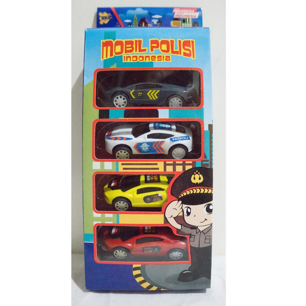 Mainan paket mobil polisi pullback- Mobil Polisi Indonesia RKC 02008-1