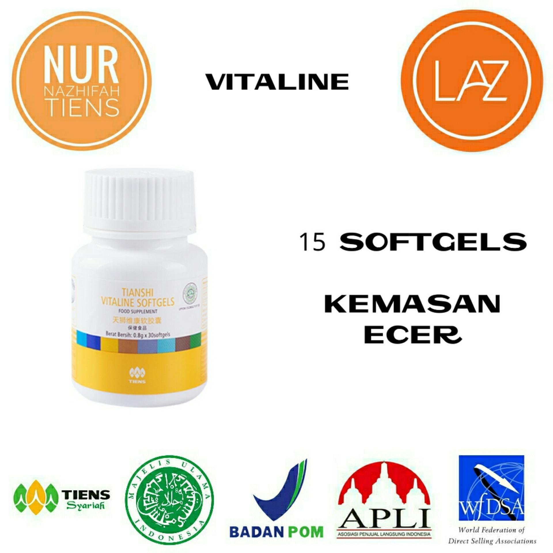 NN Tiens Vitaline Serum Pemutih Wajah & Nutrisi Pemutih Kulit Seluruh Tubuh Herbal Alami - Promo 15 Softgels