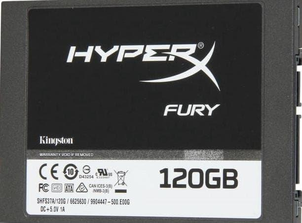 PALING LARIS - SSD - KINGSTON - HYPERX FURY SSD 120GB SHFS37A/120G