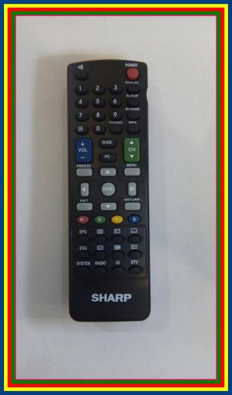Remot Remote TV Sharp LCD LED 3D Qlty