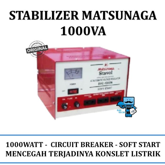 Stabilizer Matsunaga 1000va Pc Stabilizer By Das Tech.