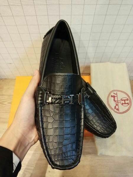 HARGA DISKON!!! Sepatu Hermes Loafers Black Croco Type Mirror Quality