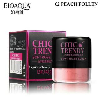 Bioaqua Chic Trendy Soft Rose Blush On Powder ORIGINAL - 02 Peach Pollen thumbnail