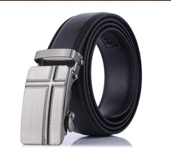 Men's Fashion Belt dengan Gesper Paduan Seng untuk Pria Fashion Suite Dasi Kasual Kemeja Kain Dompet