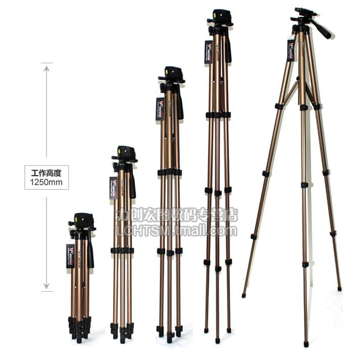 Promo Tripod Weifeng Portable Lightweight 4-Section with WaterPass WT-3130 original