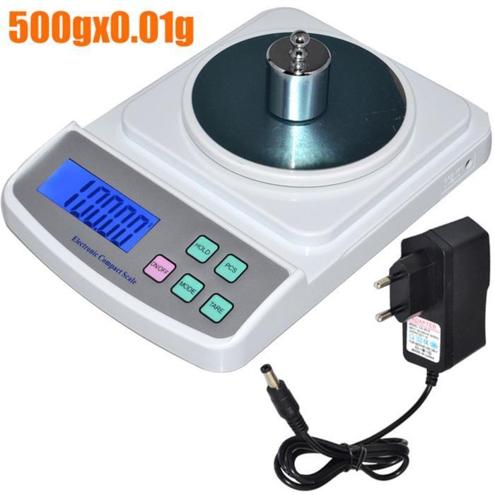 Timbangan Digital Besar Akurasi 0.01g Kapasitas 500g + Power Adaptor