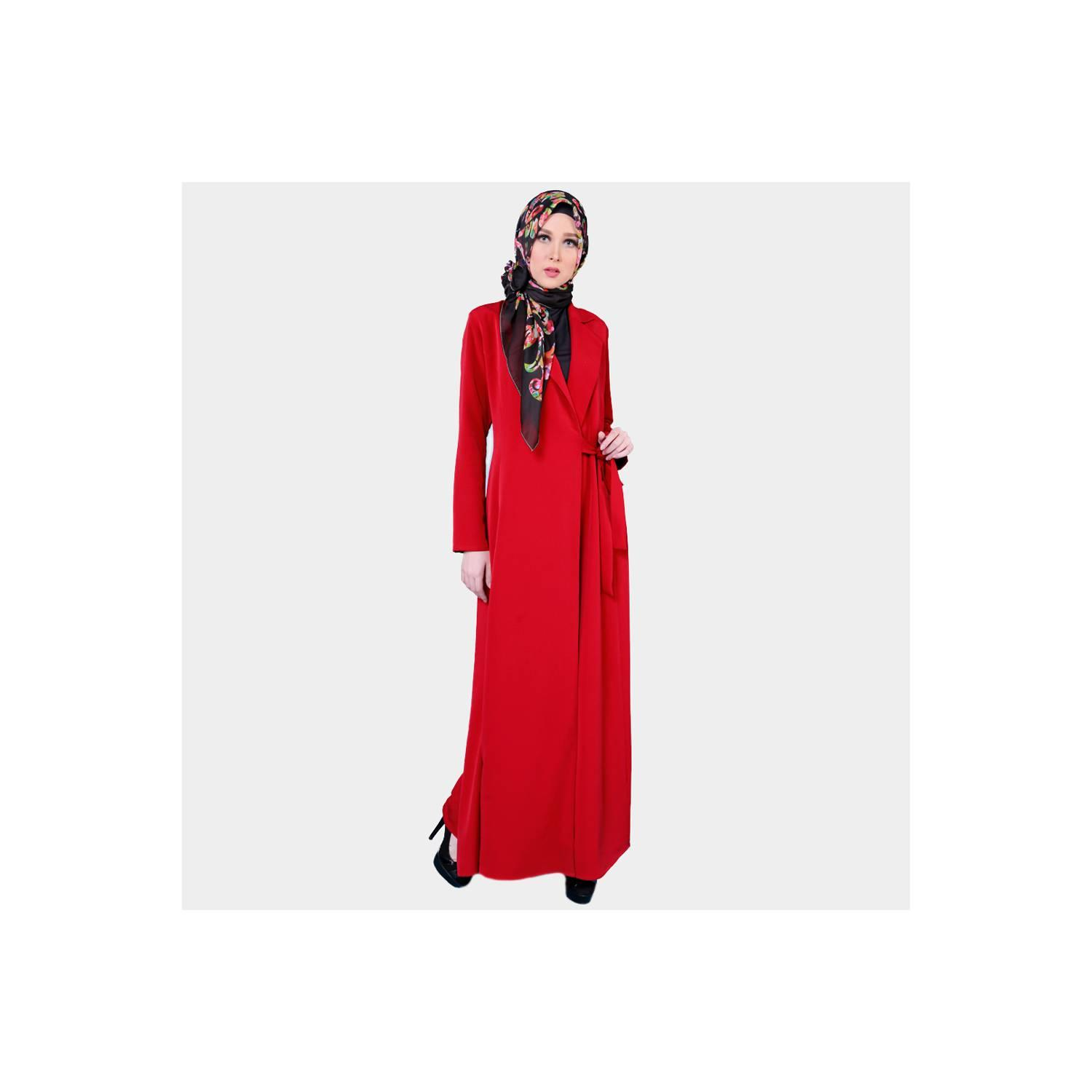 Zoya Gamis Muslimah Dress Motif Polos - Zulma Dress