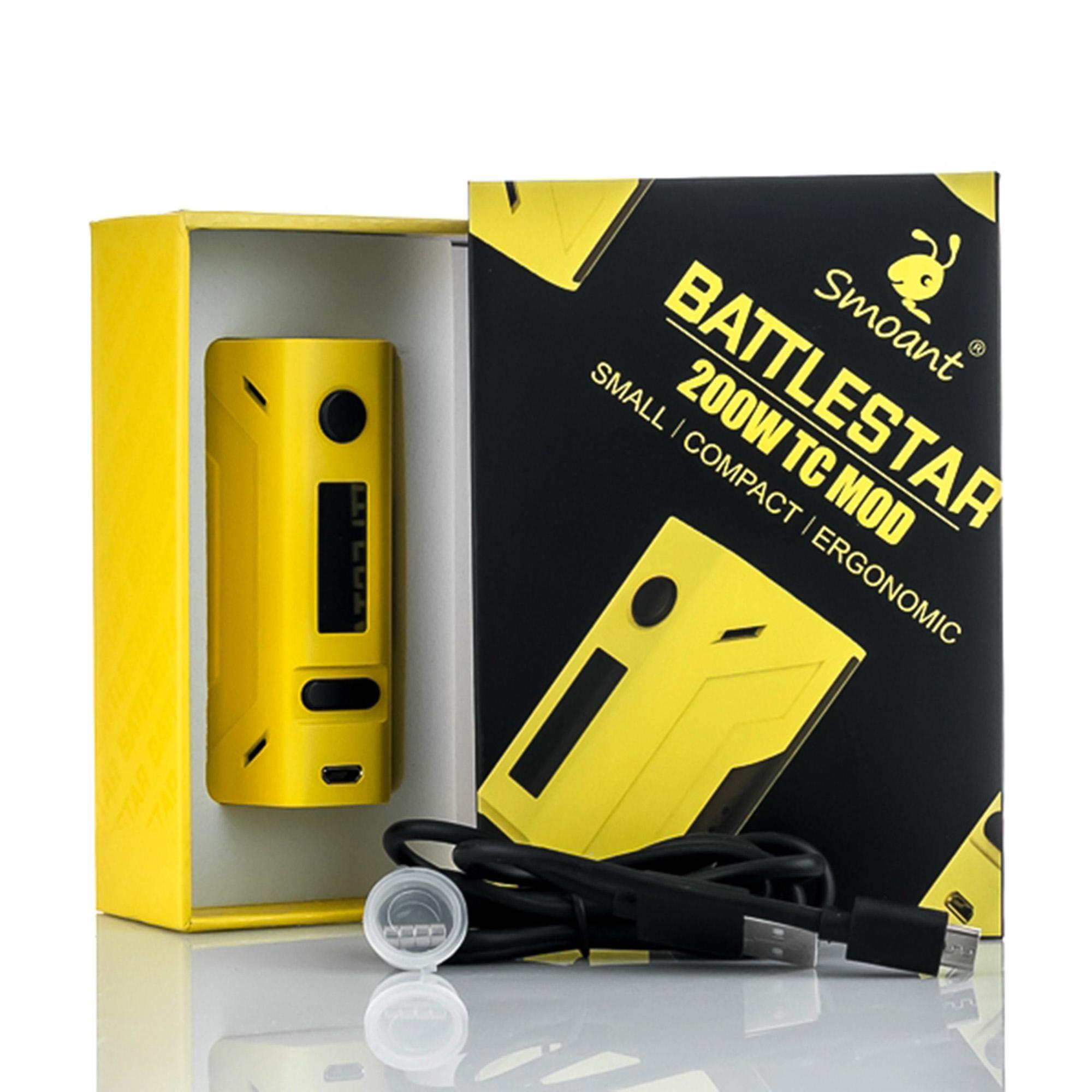 SMOANT BATTLE STAR MOD / Vapor Battle Star 200W MOD ONLY AUTHENTIC 100% Bonus Liquid