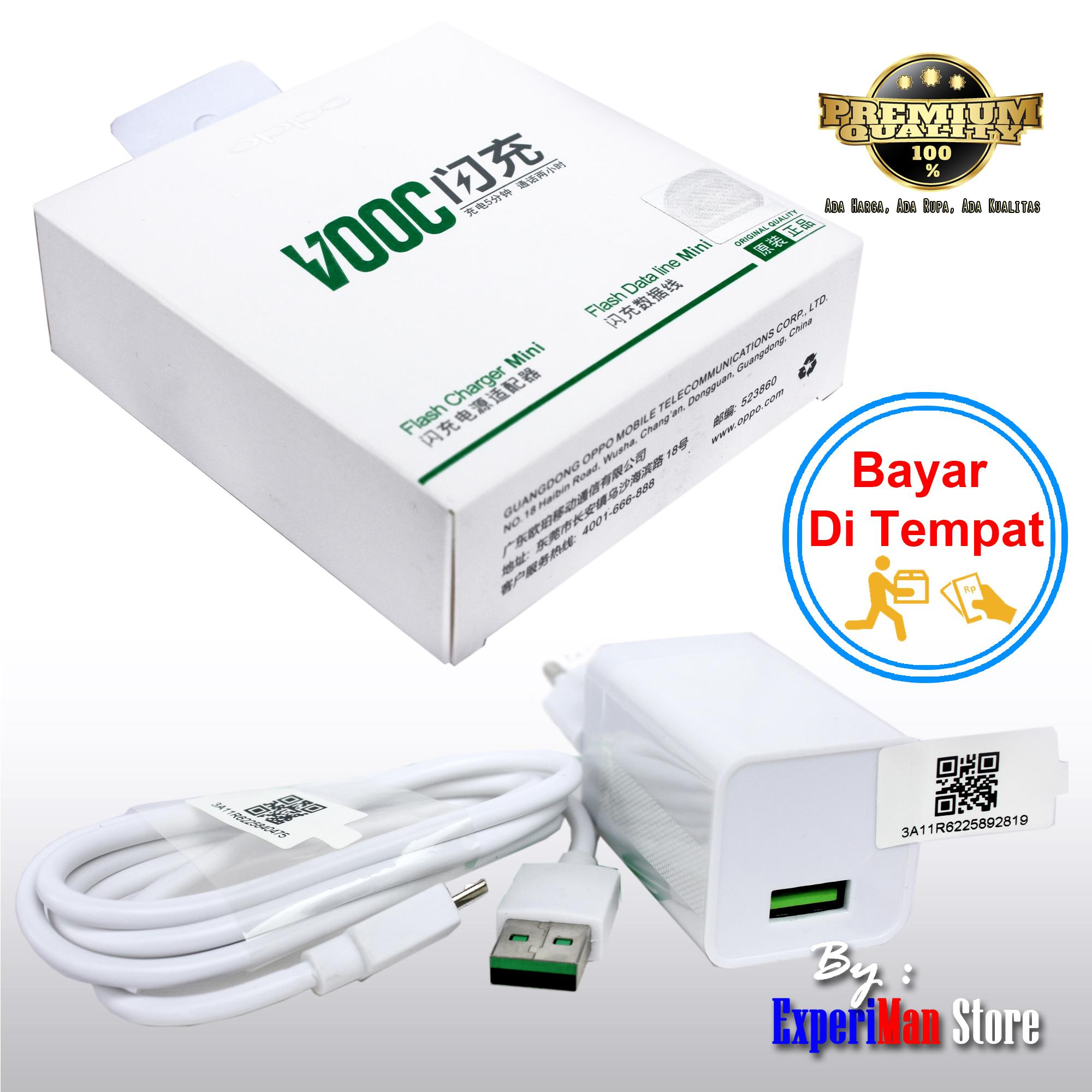 Charger OPPO VOOC Flash Charger Flash Data Mini - Putih