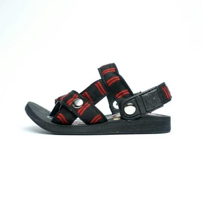 Sandal Kids Model Eiger Hitam Tali BAtik