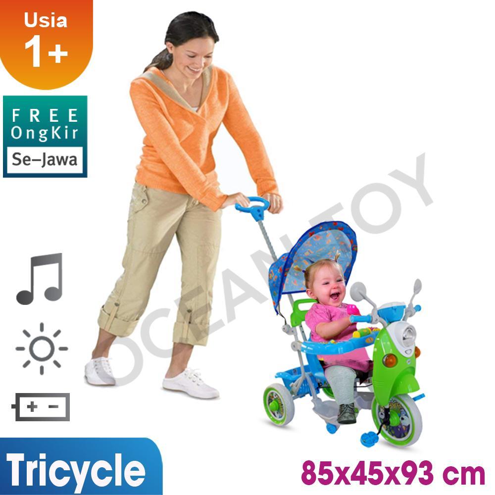 Sepeda Roda Tiga Anak / Gratis Ongkir Khusus Jawa / Sepeda Roda Tiga Mainan Anak / Sepeda Anak / Cowok Cewek / Trycicle T05 By Ocean Toy.