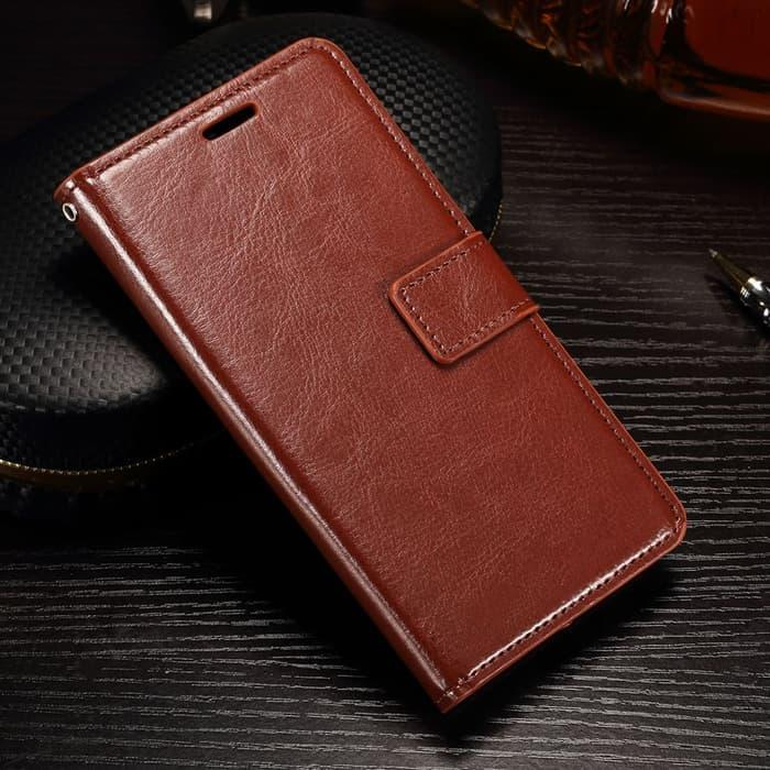 Flipcase Leather Huawei P20 Pro Casing Cover kulit flip case wallet magnet stand