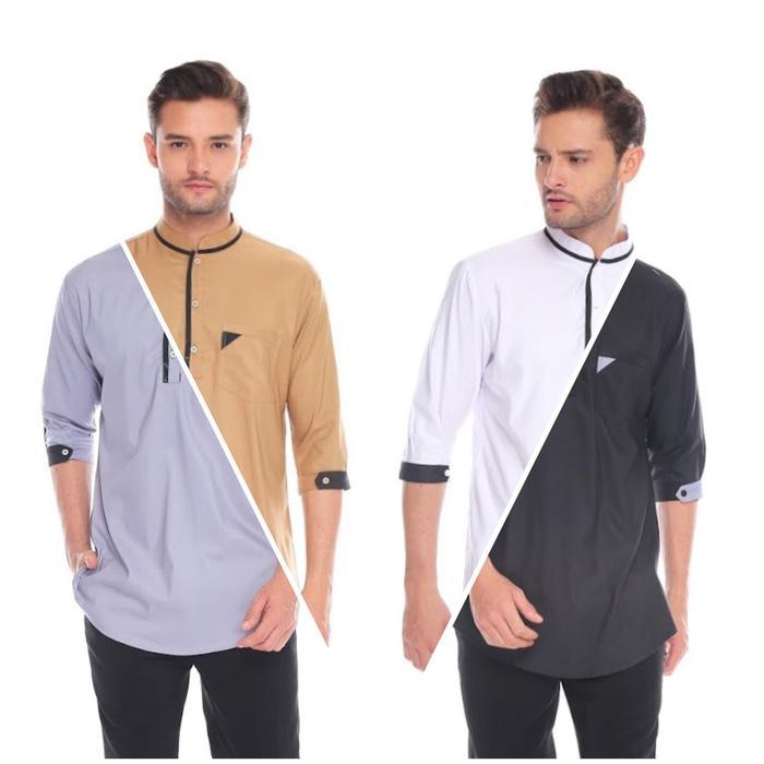 Baju Koko Modern   Kaos Muslim Pria Premium Simple BEST SELLER